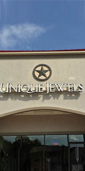 Entrance of Unique Jewels Showroom